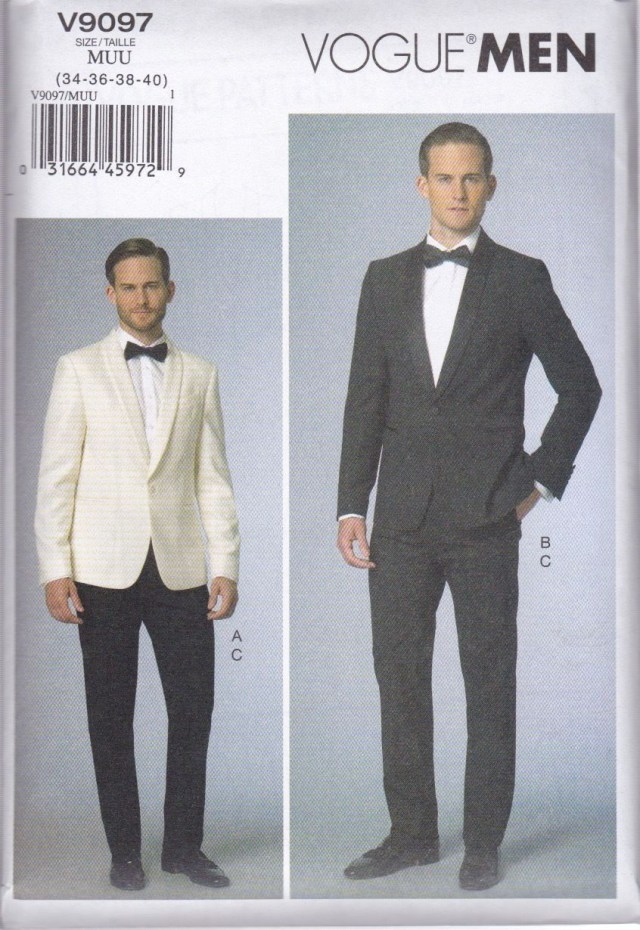 Mens Sewing Patterns Vogue Sewing Pattern Men S Evening Prom Jacket Pants V9097