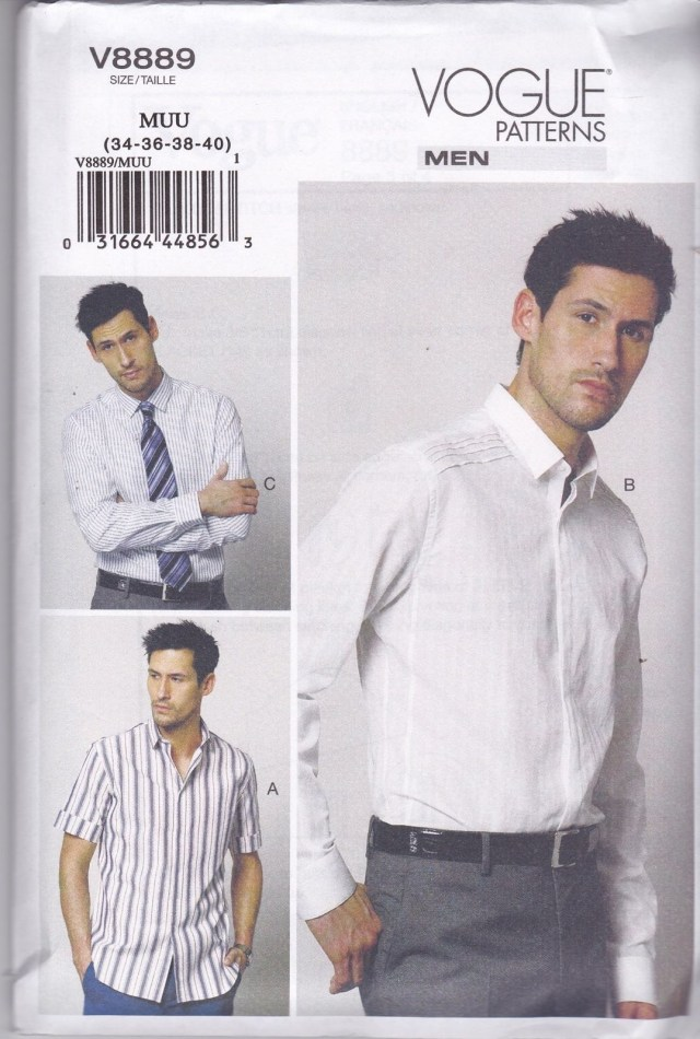 Mens Sewing Patterns Vogue Sewing Pattern Men S Loose Fitting Shirt Has Collar Sizes 34