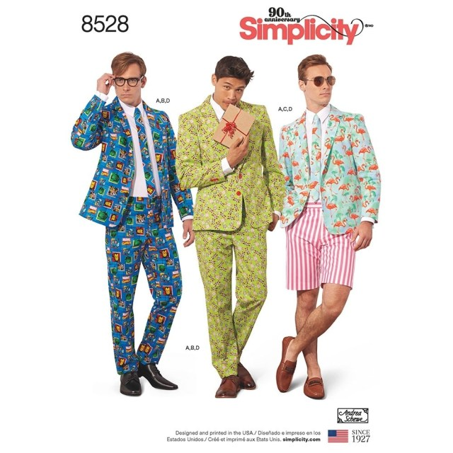 Mens Suit Sewing Patterns Mens Costume Suit Simplicity Sewing Pattern 8528 Sew Essential
