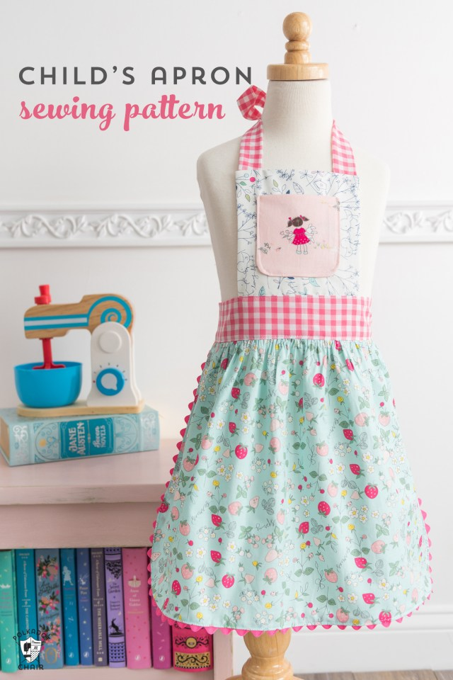 Modern Kids Sewing Patterns How To Sew Childrens Aprons A Free Childs Apron Pattern