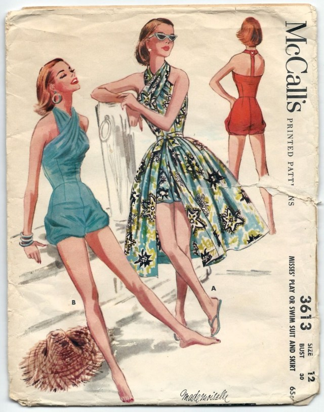 Old Sewing Patterns 1950s Vintage Sewing Pattern Mccalls 3613 Bubble Romper Bathing Swim