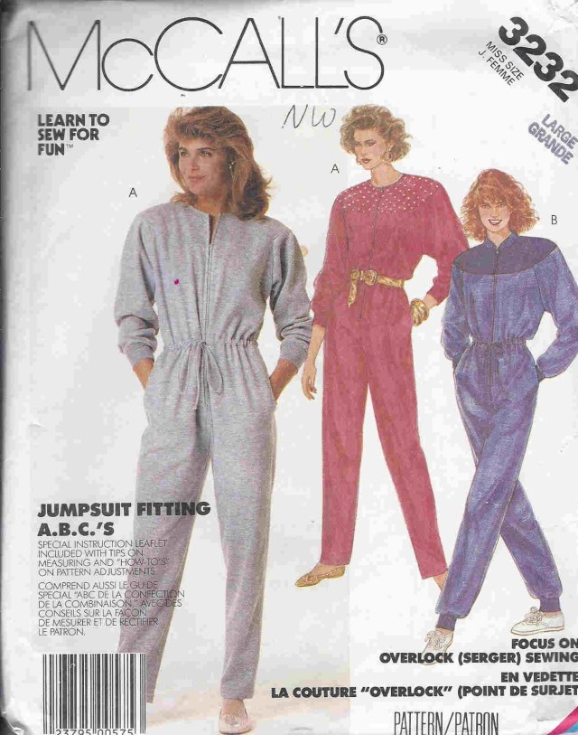 Old Sewing Patterns Ahh The Jumpsuit One Of The Many 80s Styles That Will Never Go Old