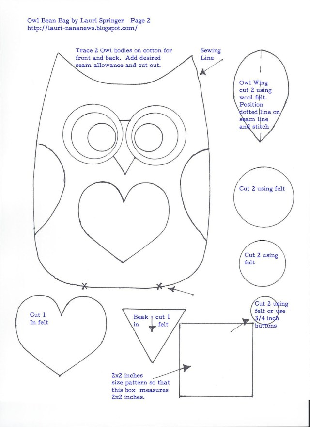 Owl Sewing Pattern Free Owl Pattern Template Liked This Pattern You May Also Enjoy My