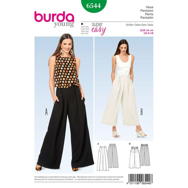 Pants Sewing Pattern Misses Trousers Burda Sewing Pattern 6544 Sew Essential