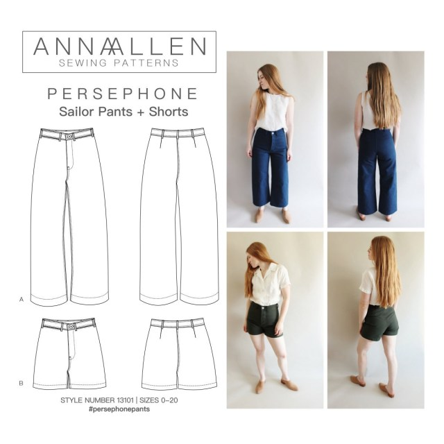 Pants Sewing Pattern Persephone Pants And Shorts Pdf Sewing Pattern Sizes 0 20 Etsy
