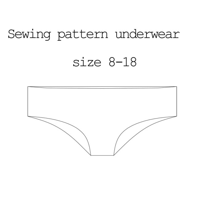 Pants Sewing Pattern Sewing Pattern Underwear Pdf Pattern Lingerie Pattern Pants Etsy