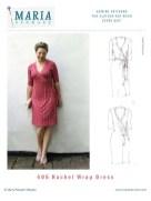 Pattern Design Sewing Dresses Mariadenmark 405 Rachel Wrap Dress Sewing Pattern
