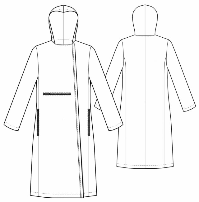 Patterns For Sewing Coat With Asymmetrical Closure Sewing Pattern 5477 Made To