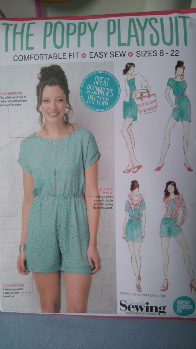 Playsuit Pattern Sewing July 2016 Crafty Sew And Sew In Dorset