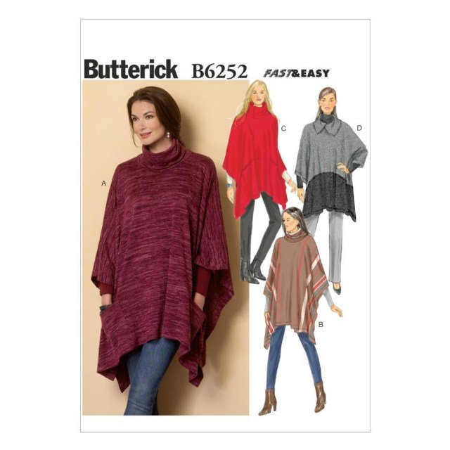 Poncho Sewing Pattern Butterick Sewing Pattern Misses Misses Pullover Poncho Size Xsm
