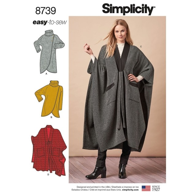 Poncho Sewing Pattern Misses Poncho And Topper Simplicity Sewing Pattern 8739 Sew Essential