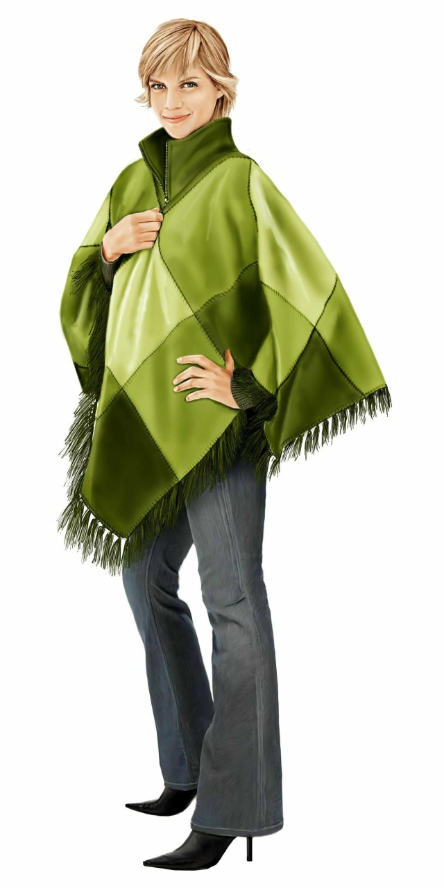 Poncho Sewing Pattern Poncho From Fleece Sewing Pattern 5715 Made To Measure Sewing