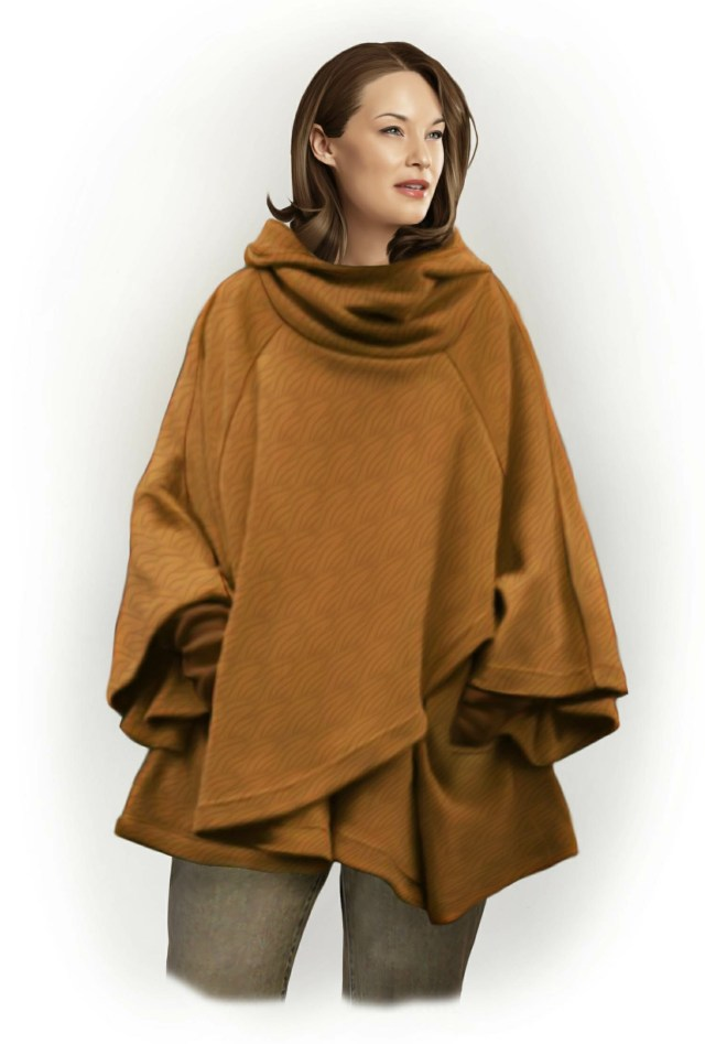 Poncho Sewing Pattern Poncho With Hood Sewing Pattern 5798 Made To Measure Sewing