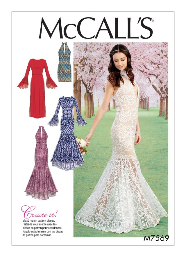 Prom Dress Sewing Patterns M7569 Mccalls Patterns Sew Pretty Projects Sewing Patterns
