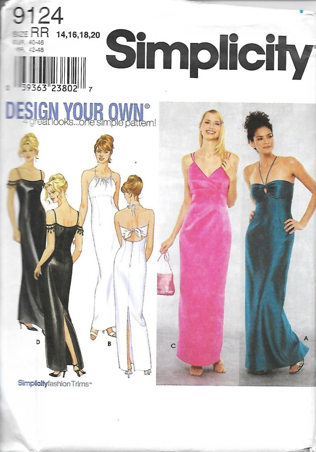 Prom Dress Sewing Patterns Simplicity 9124 Misses Design Your Own Fitted Evening Dress Sewing