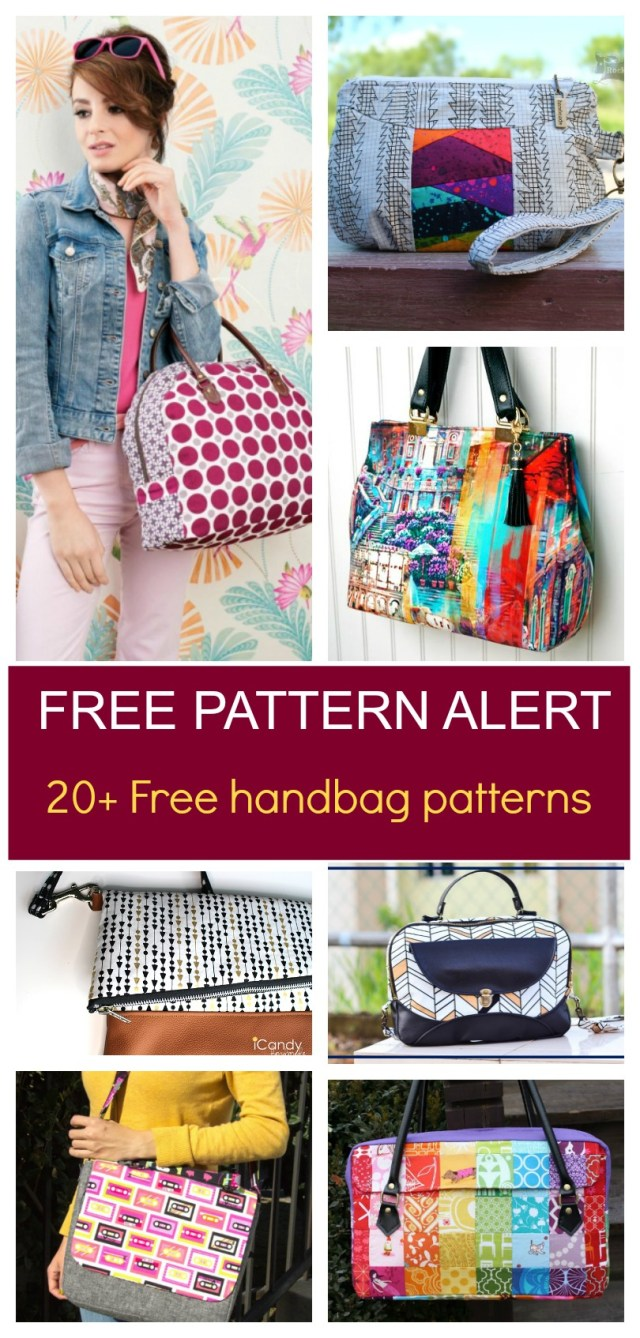 Purse Patterns To Sew Free Pattern Alert 20 Handbag Sewing Patterns On The Cutting