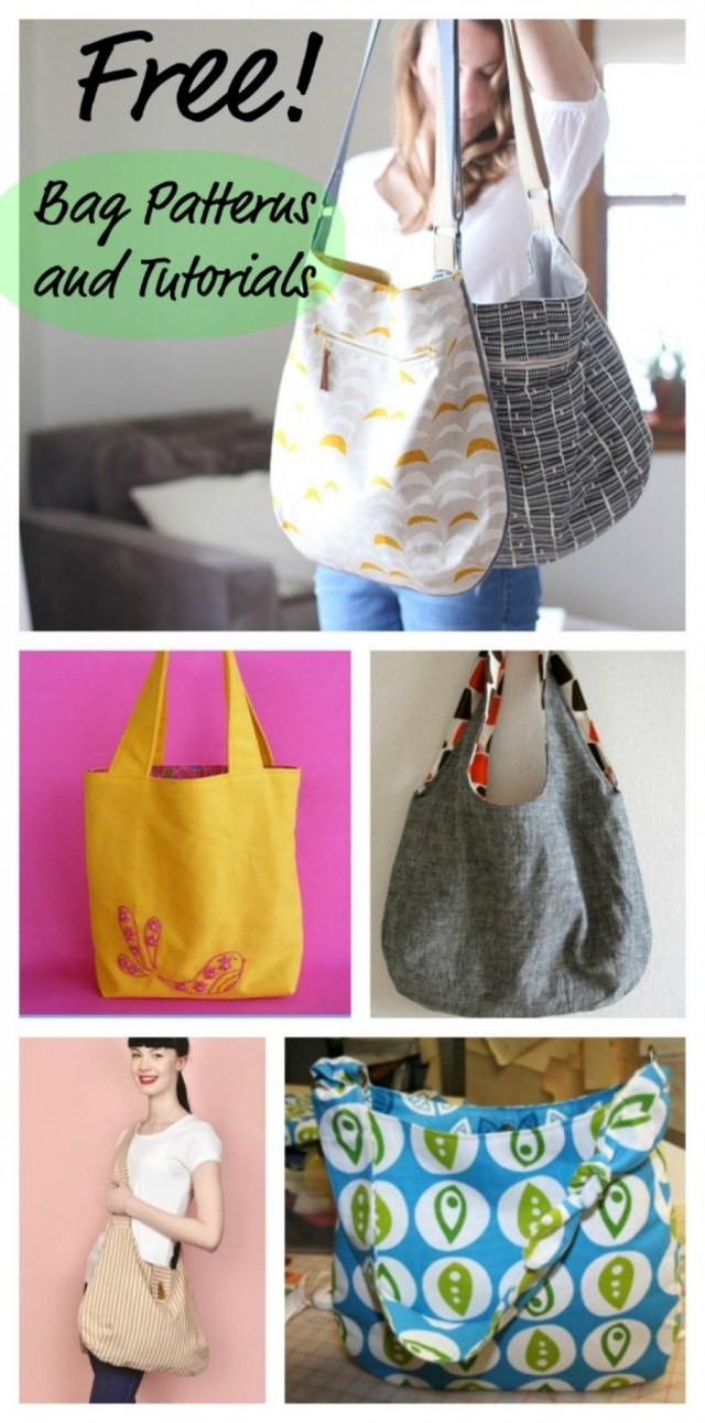 Purse Patterns To Sew Free Patterns And Tutorials For Sewing Bags Lans Favs Pinterest