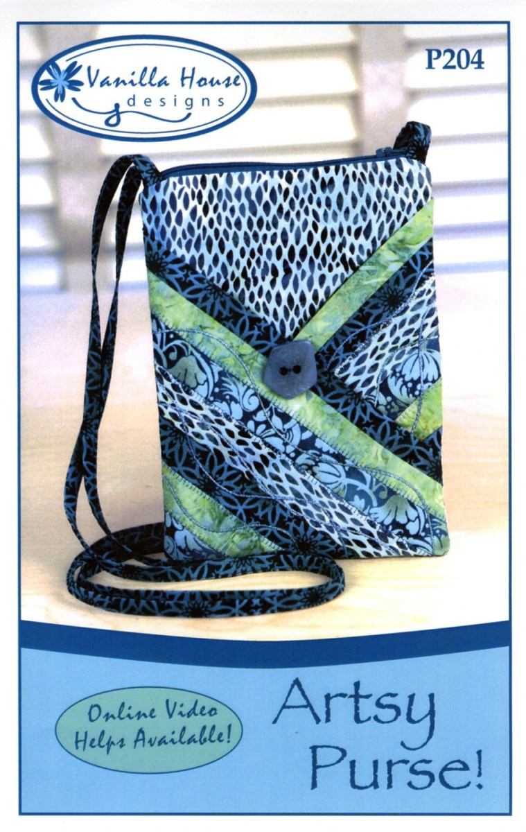 Purse Sewing Patterns Artsy Purse Sewing Pattern From Vanilla House Designs