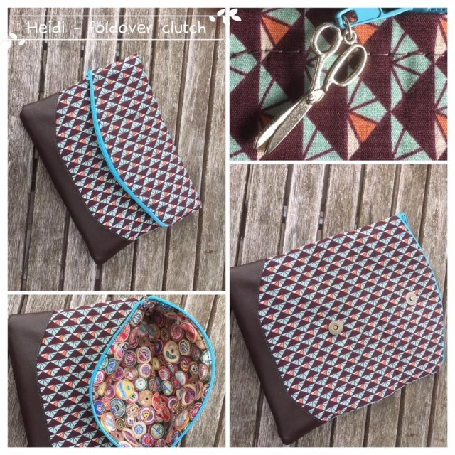 Purse Sewing Patterns Free Foldover Clutch Purse Sewing Pattern The Heidi Bag From Swoon