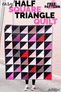 Quilting Patterns Easy Half Square Triangle Quilt Pattern Hst Tutorial See Kate Sew