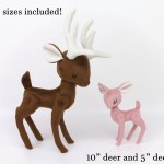 Reindeer Sewing Pattern Pdf Sewing Pattern Deer Reindeer Stuffed Animal With Video Tutorials