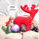 Reindeer Sewing Pattern Reindeer Sewing Pattern Christmas Sewing Projects Deer Etsy