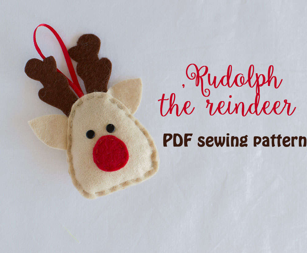 Reindeer Sewing Pattern Rudolph The Reindeer Pdf Sewing Pattern Athina Kakou
