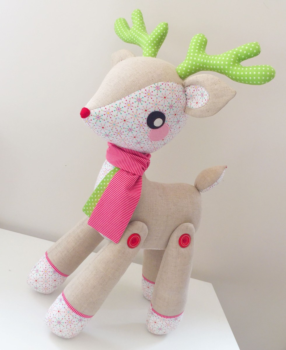 Reindeer Sewing Pattern Turn Your Darla The Deer Softie Pattern Into A Pattern For This
