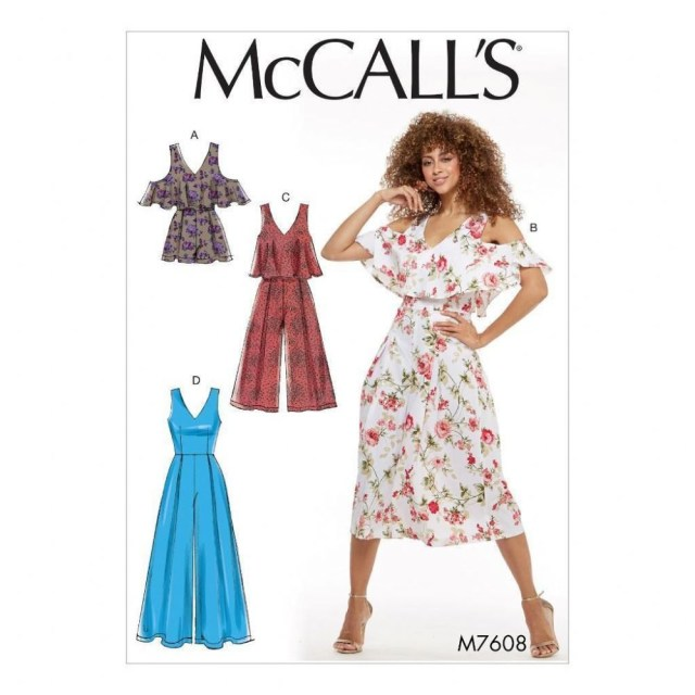 Romper Sewing Pattern Mccall S Sewing Pattern Misses Romper Jumpsuits Size 6 22 M7608