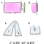 Scarf Sewing Pattern Cape Scarf Diy The Sewing Rabbit