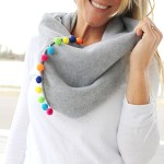 Scarf Sewing Pattern Pom Pom Infinity Scarf The Sewing Rabbit