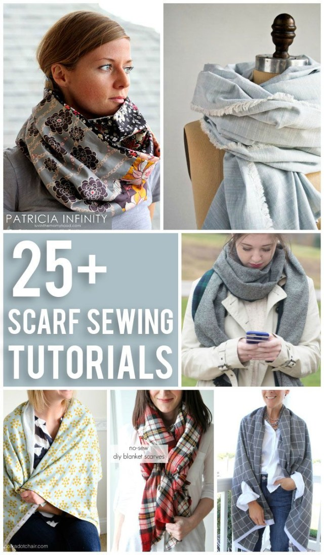Scarf Sewing Patterns 25 Scarf Sewing Tutorials Craft Sewing And Embroidery