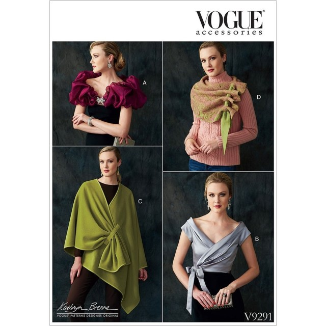 Scarf Sewing Patterns Misses Wraps Shrug And Scarf Vogue Sewing Pattern 9291 Sew Essential