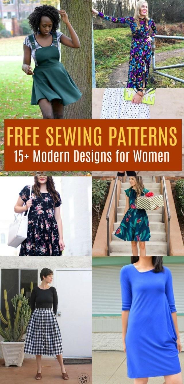 Sew Cool Patterns Free Pattern Alert 15 Modern Design Sewing Patterns For Women