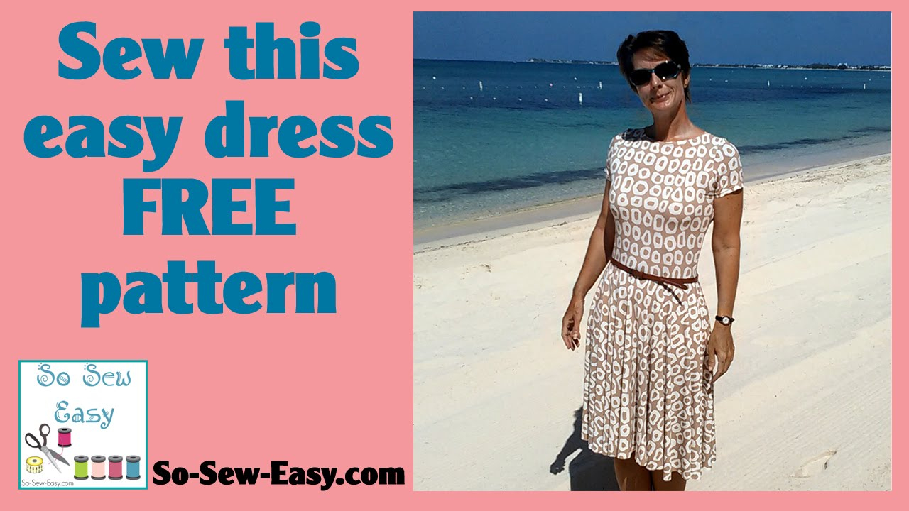 Sew Easy Patterns Sew This Easy Knit Dress With Circle Skirt