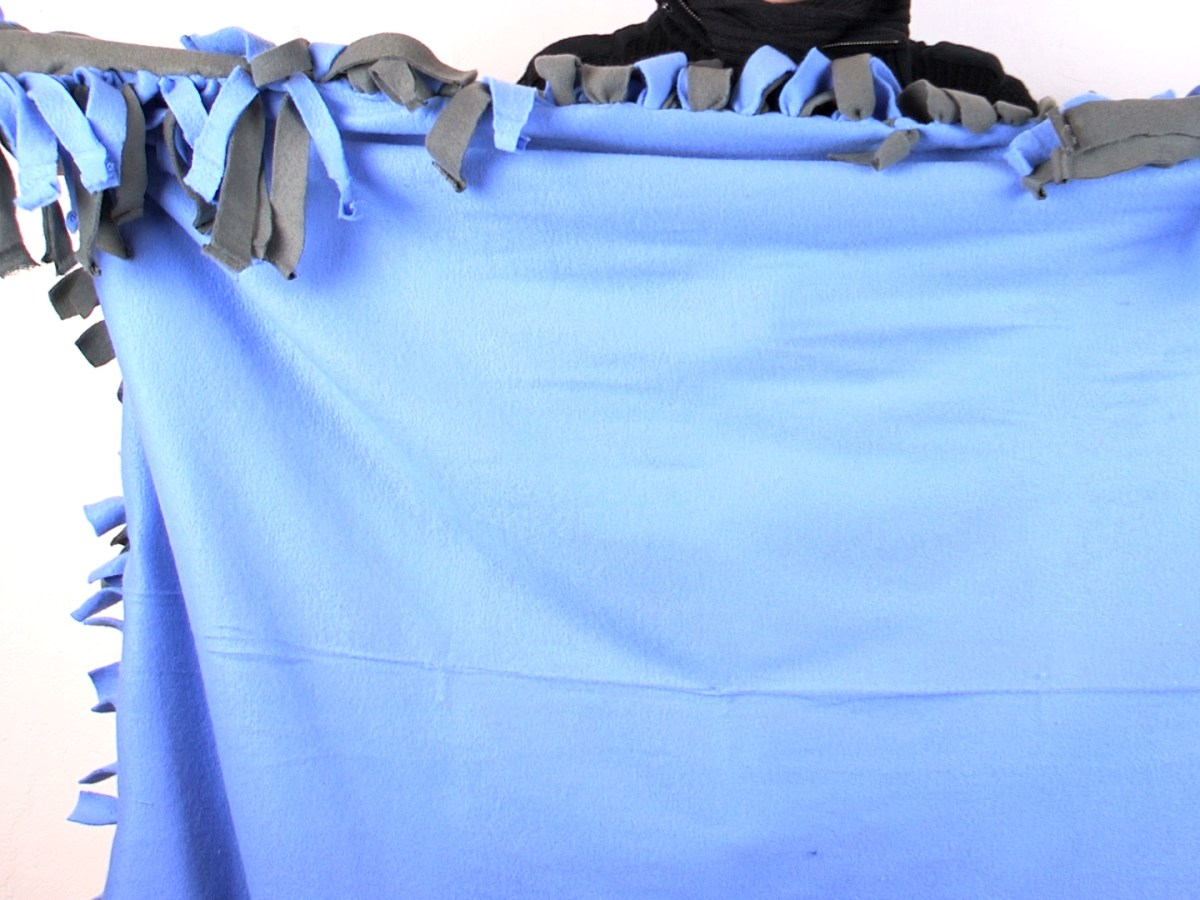 Sewing Blankets Ideas A Simple And Easy Way To Make A Fleece Tie Blanket Wikihow