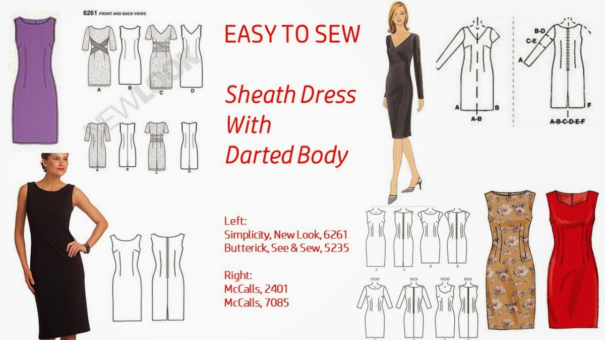 Sewing Dress Patterns Pintucks 7 Best Sheath Dress Patterns With Vintage Style Easy To Sew