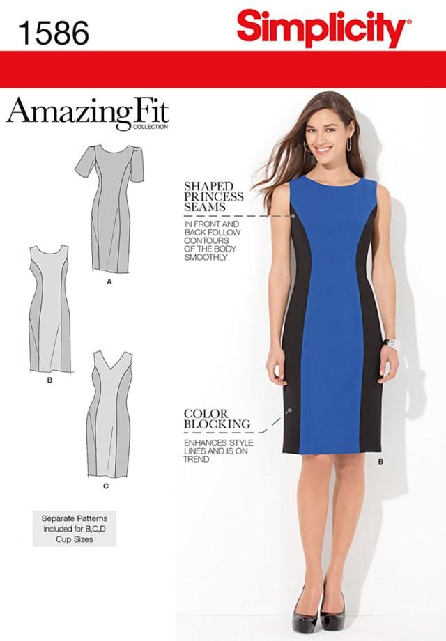Sewing Dress Patterns Simplicity Amazing Fit Missesplus Size Sewing Pattern 1586 Dress