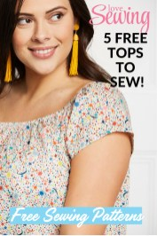 Sewing Pattern Easy Easy Tops To Sew 5 Free Sewing Patterns Love Sewing