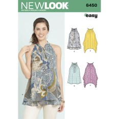 Sewing Pattern Easy New Look Womens Easy Tops Sewing Pattern 6450 Hobcraft