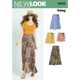 Sewing Pattern Easy New Look Womens Easy Wrap Skirts Sewing Pattern 6456 Hobcraft