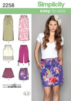 Sewing Pattern Easy Simplicity 2258 Misses Easy To Sew Skirts Shorts