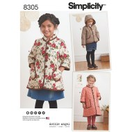 Sewing Pattern For Girl Girls Coat And Jacket Simplicity Sewing Pattern 8305 Sew Essential