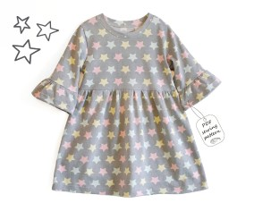 Sewing Pattern For Girl Girls Dress Sewing Pattern Pdf Frill Sleeves Dress Sewing Etsy