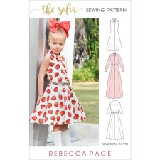 Sewing Pattern For Girl The Sofia A Girls Shirt Dress Sewing Pattern Rebecca Page