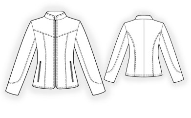 Sewing Pattern Womens Coat Leather Jacket Sewing Pattern 4296 Made To Measure Sewing Pattern