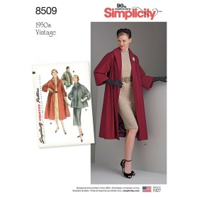 Sewing Pattern Womens Coat Misses Vintage Coat Or Jacket Simplicity Sewing Pattern 8509 Sew