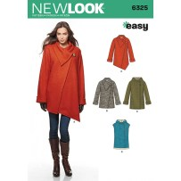 Sewing Pattern Womens Coat New Look Womens Coat Sewing Pattern 6325 Hobcraft