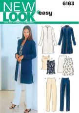 Sewing Pattern Womens Coat Womens Jacket Top Pants Sewing Pattern 6163 New Look Patterns