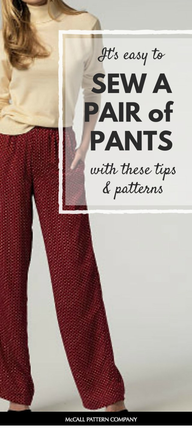 Sewing Patterns For Beginners Easy Patterns For Beginning Sewers Pants Beginner Friendly